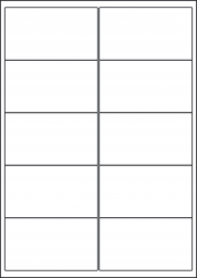 Yellow Labels, 10 Per Sheet, 99.1 x 57mm