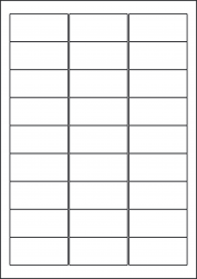 Yellow Labels, 27 Per Sheet, 63.5 x 29.6mm