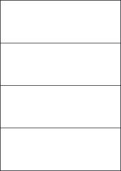 Yellow Labels, 4 Per Sheet, 210 x 74.25mm