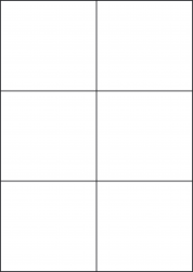 Yellow Labels, 6 Per Sheet, 105 x 99mm
